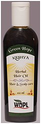 Hair oil used to restore natural nutrients.